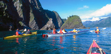 Ocean kayaking in Alaska