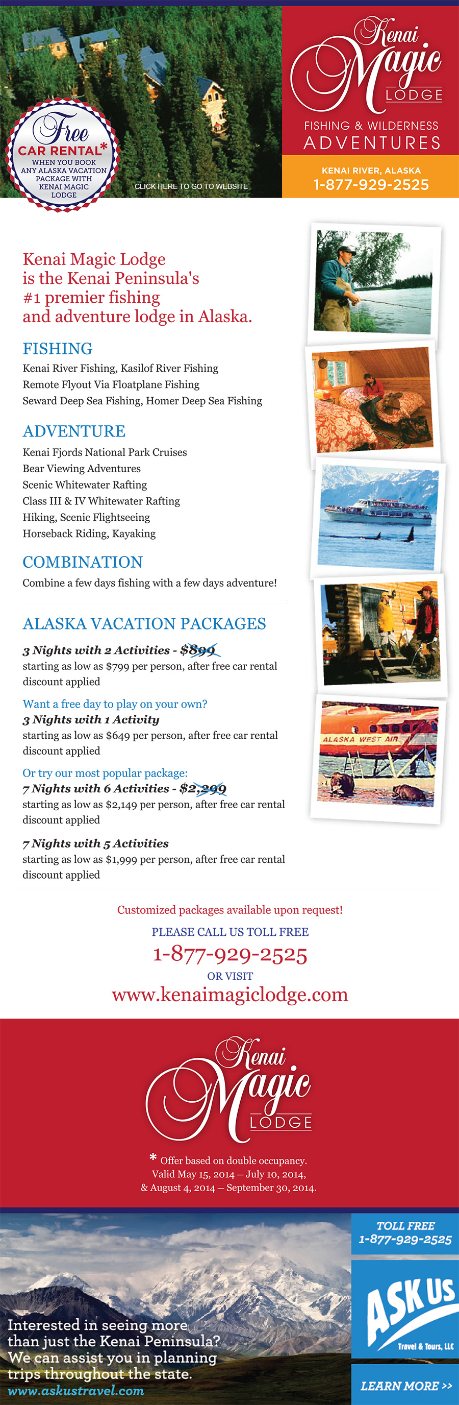 Kenai Magic Lodge Specials
